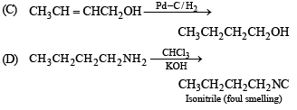 Match the following of Compounds Containing Nitrogen, Past year Questions JEE Adv,Class 12,Chemistry JEE Notes | EduRev