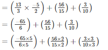RD Sharma Solutions - Ex-5.3, Operations On Rational Numbers, Class 7, Math Class 7 Notes | EduRev