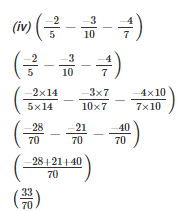 RD Sharma Solutions - Ex-5.2, Operations On Rational Numbers, Class 7, Math Class 7 Notes | EduRev