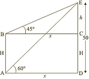 Some Applications of Trigonometry Exercise 12 1(part-3) Class 10