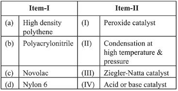 Previous year Questions (2016-20) - Carbohydrates, Amino Acids & Polymers - (Part - 2) Notes | EduRev
