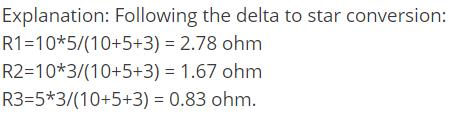 Delta to Star Conversion Electrical Engineering (EE) Notes   EduRev