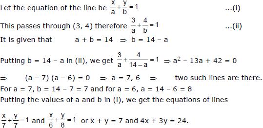 Straight Lines Class 11 Notes, Maths (IIT) Class 11 Notes