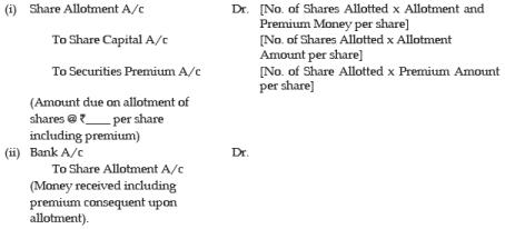 Unit 2: Issue, Forfeiture and Re-Issue of Shares (Part - 2) CA CPT Notes | EduRev