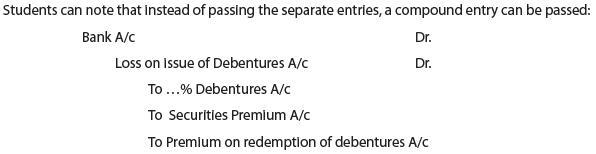 Unit 3: Issue of Debentures CA CPT Notes | EduRev