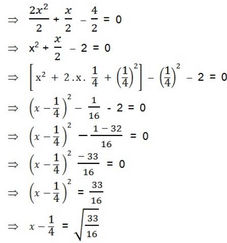 महत्वपूर्ण-प्रश्नोत्तर, पाठ - 4 द्विघात समीकरण (कक्षा दसंवी),गणित Class 10 Notes | EduRev