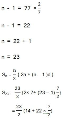 महत्वपूर्ण-प्रश्नोत्तर, पाठ - 5 समांतर श्रेढियाँ (कक्षा दसंवी),गणित Class 10 Notes   EduRev