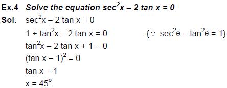Trigonometry - Examples (with Solutions), Geometry, Quantitative Aptitude CAT Notes | EduRev