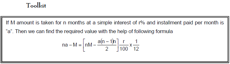 Interests - Examples (with Solutions), Arithmetic, Quantitative Reasoning Quant Notes | EduRev