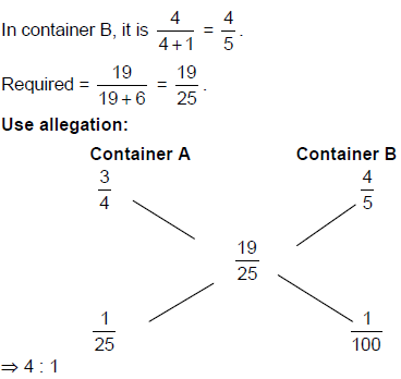 Mixtures and Allegations - Examples (with Solutions), Arithmetic, Quantitative Reasoning Quant Notes | EduRev