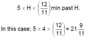 Clocks and Calendar- Examples (with Solutions); Arithmetic; Quantitative Reasoning Quant Notes | EduRev