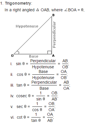 Heights and Distance - Important Formulas; Logical Reasoning LR Notes | EduRev