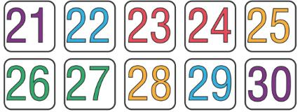 Worksheet 2: Numbers from Twenty-one to Fifty Notes | EduRev