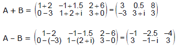 Operations on Matrices JEE Notes | EduRev