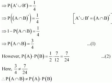 NCERT Solutions - Probability JEE Notes | EduRev