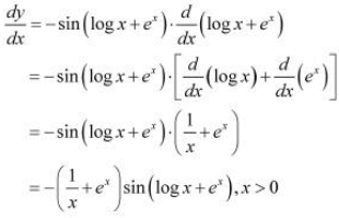 NCERT Solutions - Continuity & Differentiability, Exercise 5.4 JEE Notes | EduRev