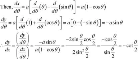 NCERT Solutions - Continuity & Differentiability, Exercise 5.6 JEE Notes | EduRev