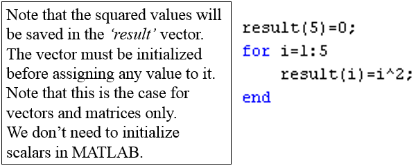 Chapter - Matlab Vectors and Matrices and Basic Instructions