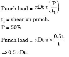 Past Year Questions: Sheet Metal Operations Mechanical Engineering Notes | EduRev