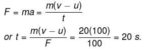 Numerical Problems(Solved) : Force and Newton`s Law of Motion, Science, Class 9   EduRev Notes