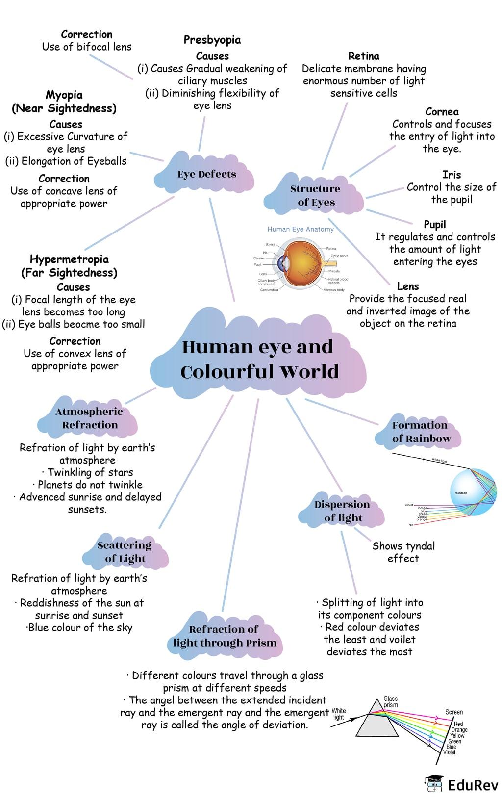 Mindmap: Ray Optics: The Human Eye and Colorful World Class 10 Notes   EduRev