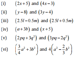 NCERT Solutions (Ex - 9 4, 9 5) Chapter 9 - Algebraic