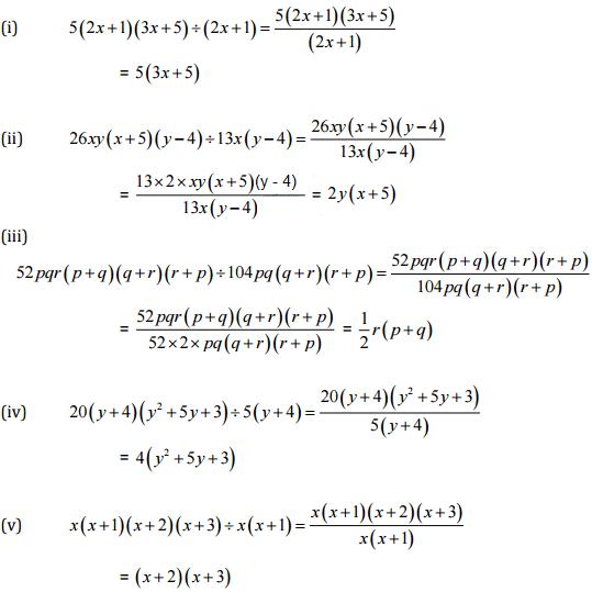 NCERT Solutions (Part- 3)- Factorisation Class 8 Notes | EduRev