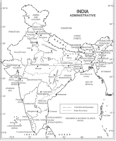 Long Question Answers: India-Location Humanities/Arts Notes | EduRev