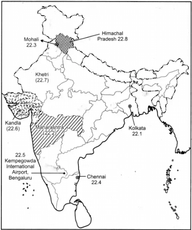 Class 12 Geography Solved Paper (2019 Out Delhi Set-I) Humanities/Arts Notes   EduRev