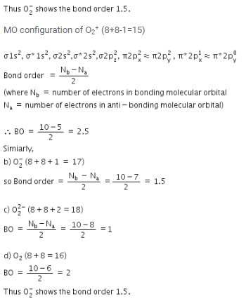MCQ: Chemical Bonding and Molecular Structure Class 11 Notes | EduRev