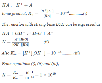 A certain weak acid has a dissociation constant of 1 × 10 ...