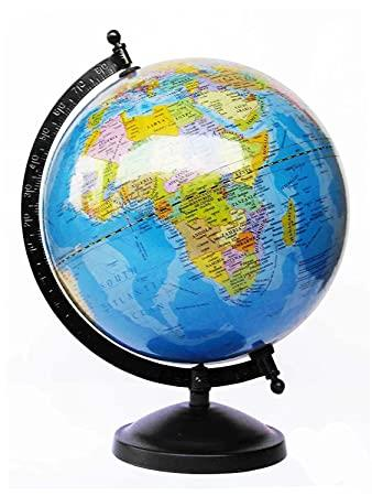 Globeskart Educational Laminated Rotating World Globe With Metal :  Amazon.in: Toys & Games