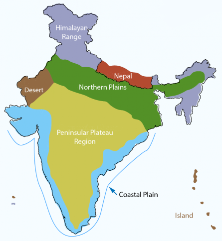 NCERT Gist: India - Location - 1 Notes | EduRev