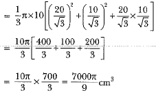 Previous Year Questions - Surface Area and Volumes (part-1) Class 10 Notes | EduRev