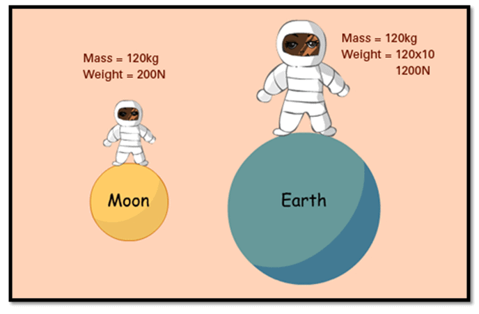 Concepts of Mass, Weight, Thrust, Pressure and Density Class 9 Notes | EduRev