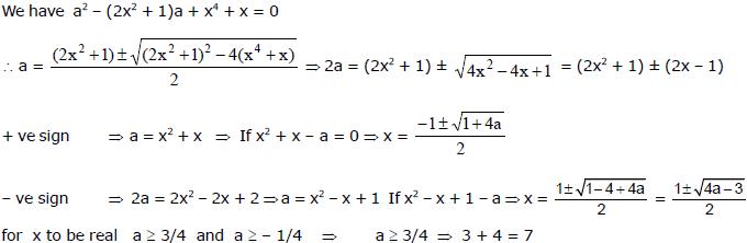 Quadratic Equations, Chapter Notes, Class 11, Maths(IIT) Class 11