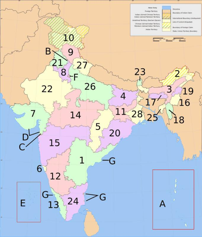 Short Question Answers - India: Size and Location Class 9 Notes | EduRev