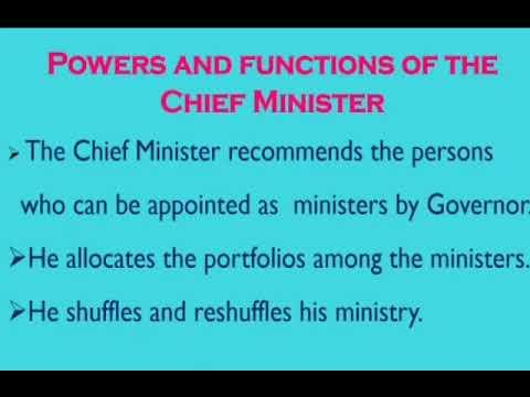 Laxmikanth: Summary of Chief Minister UPSC Notes | EduRev