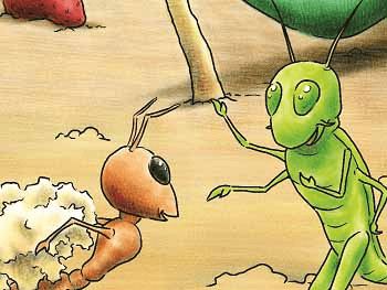 Summary In English - Poem - The Ant and the Cricket