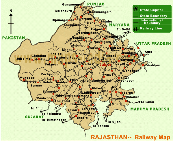 5. Railways, Air Transport and Industries of Rajasthan, Population Distribution, Rajasthan Geography UPSC Notes | EduRev