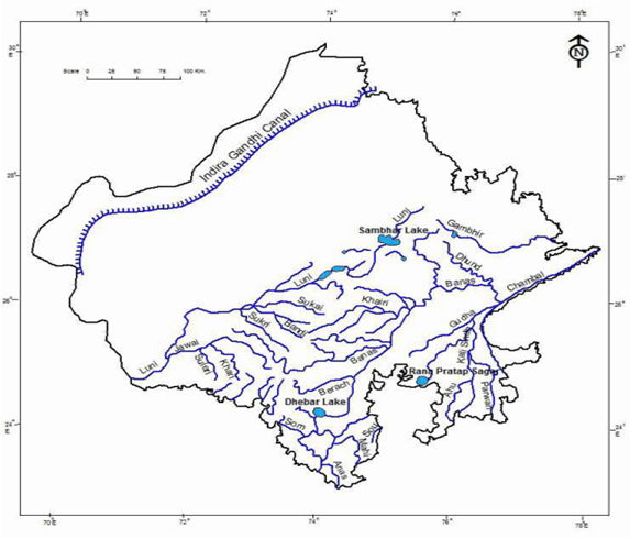 4. River of Rajasthan and Drainage Basins, Source of Irrigation, Geography of Rajasthan UPSC Notes | EduRev
