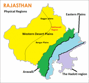 2. Physical Regions of Rajasthan; Administrative Division of Rajasthan; Geography of Rajasthan UPSC Notes | EduRev