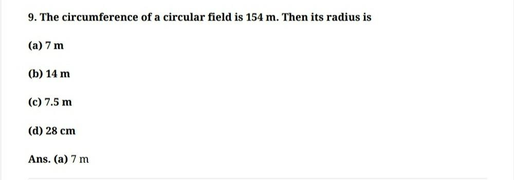 Math: Areas related to Circles: Important 1 mark Questions Class 10 Notes   EduRev