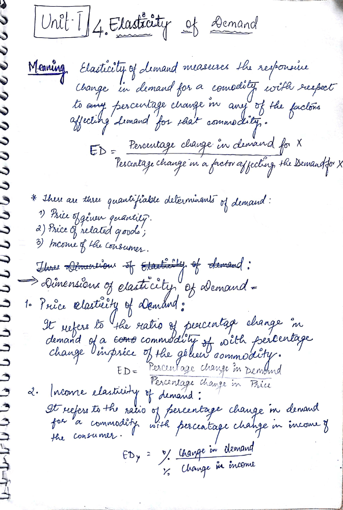 Chapter 4 Elasticity Of Demand Economics Class 12 Notes Edurev