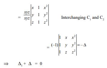 Determinants - Introduction JEE Notes | EduRev