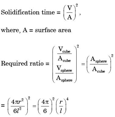 Past Year Questions: Solidification and Cooling Mechanical Engineering Notes | EduRev