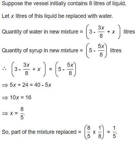 Mixtures and Allegations - Examples (with Solutions), Arithmetic, Quantitative Reasoning Quant Notes | EduRev