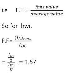 Half-Wave Rectifier - circuit diagram - Ripple factor - Form  Factor-Transformer utilisation factor - ELECTRICAL SIMPLE
