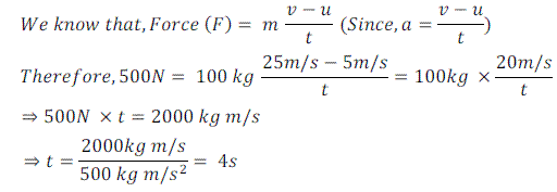 Numerical Problems Based on Newton's Second Law of Motion(2