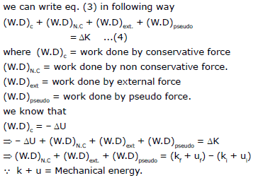 Work,Power and Energy, Chapter Notes, Class 11, Physics (IIT